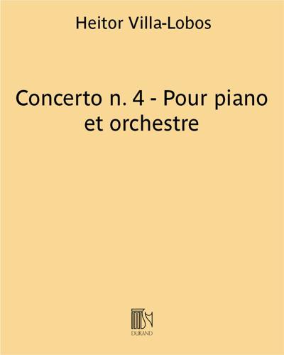 Concerto n. 4 - Pour piano et orchestre