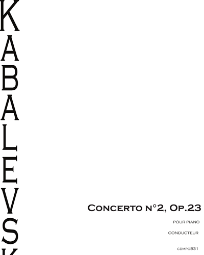 Piano Concerto No. 2, Op. 23