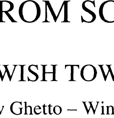 Schindler's List: Jewish Town
