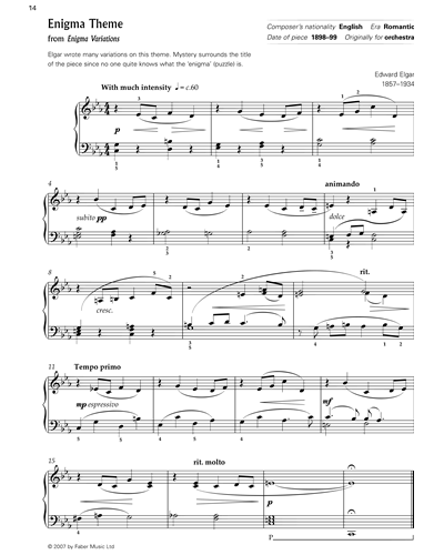 """Enigma Theme (from """"Enigma Variations"""")"""