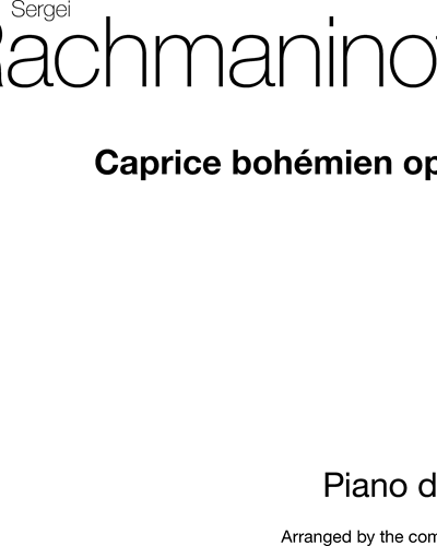 Caprice Bohèmien (Version for Two Piano Four Hands), op. 12