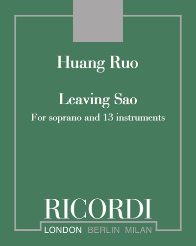 Leaving Sao - For soprano and 13 instruments