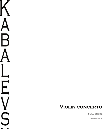 Concerto Pour Violon Et Orchestre, Op. 48