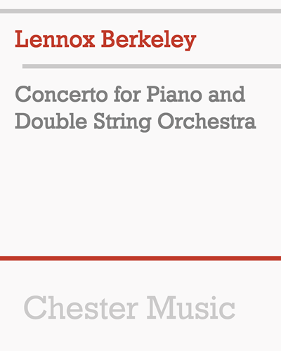 Concerto for Piano and Double String Orchestra