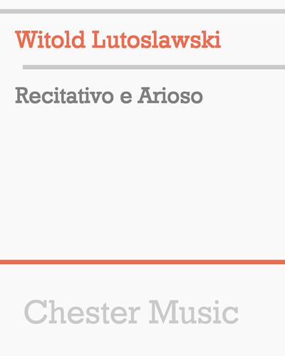 Recitativo e Arioso