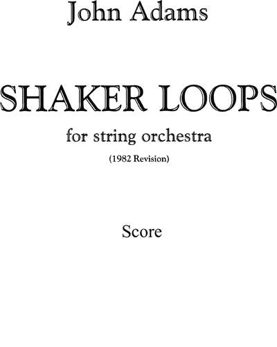 Shaker Loops, for Strings