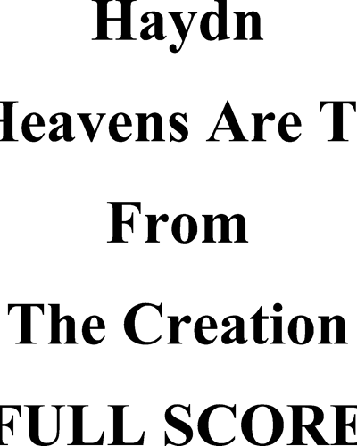 Heavens Are Telling, The
