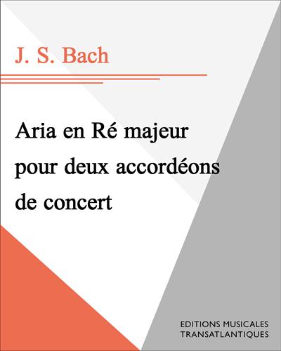 Aria en Ré majeur pour deux accordéons de concert