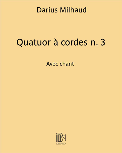 Quatuor à cordes n. 3