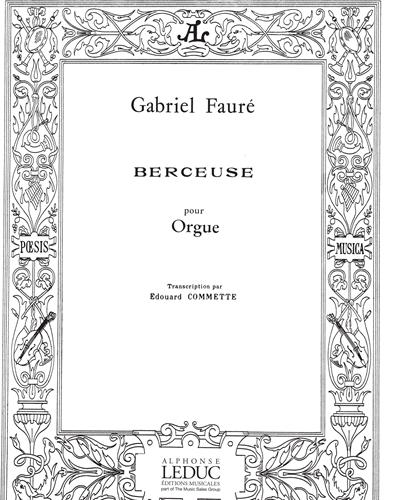 Berceuse Op. 16 pour Orgue