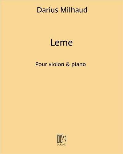 """Leme (extrait n. 1 de """"Saudades do Brazil"""")"""