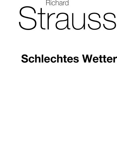 """Schlechtes Wetter (No. 5 from """"Ausgewählte Lieder"""")"""