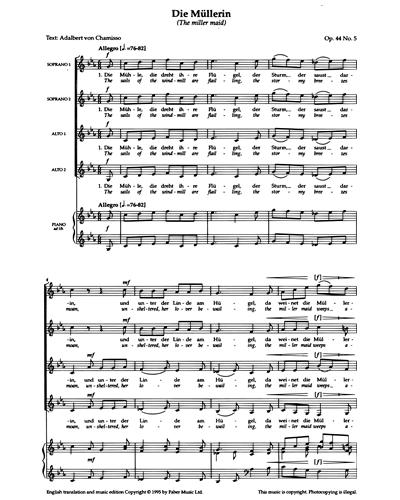 Die Müllerin (Op.44 No.5)