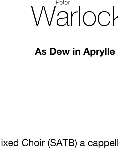 As Dew In Aprylle