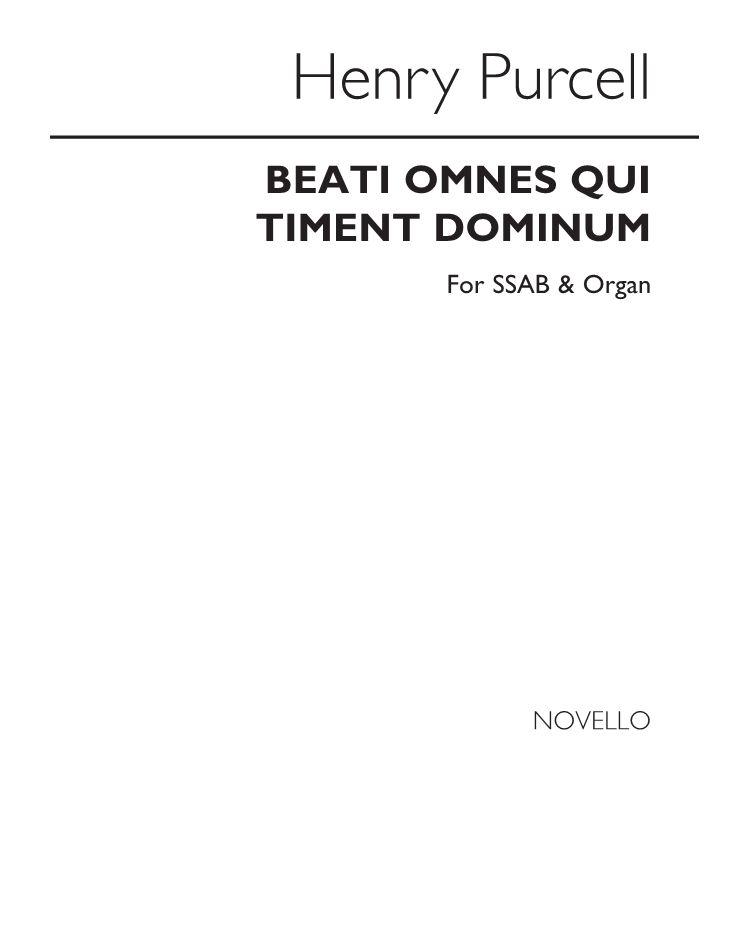 Beati omnes qui timent Dominum
