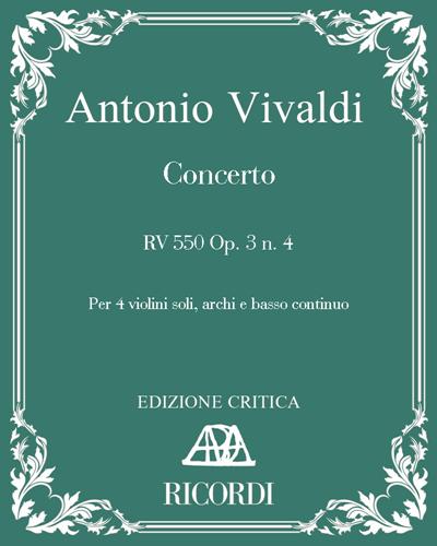 Concerto RV 550 Op. 3 n. 4