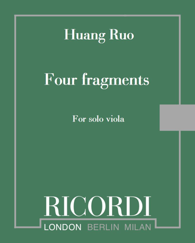Four fragments - For solo viola