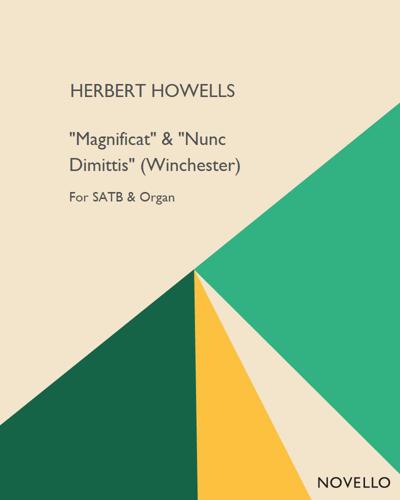 """""""Magnificat"""" & """"Nunc Dimittis"""" (Winchester)"""
