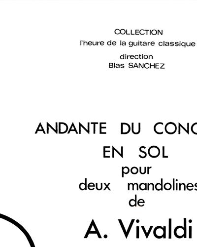 Andante Du Concerto En Sol