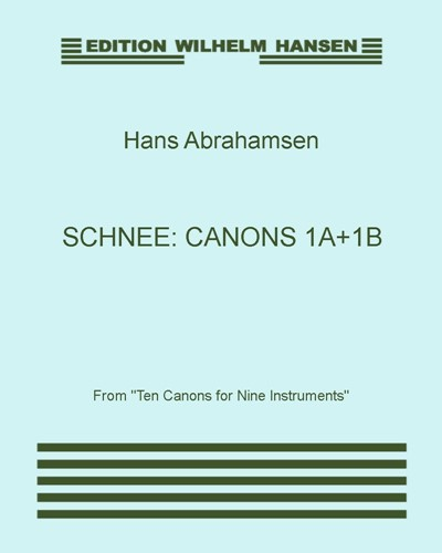 Schnee: Canons 1a+1b
