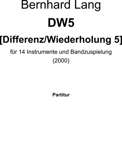 DW5 [Differenz/Wiederholung]