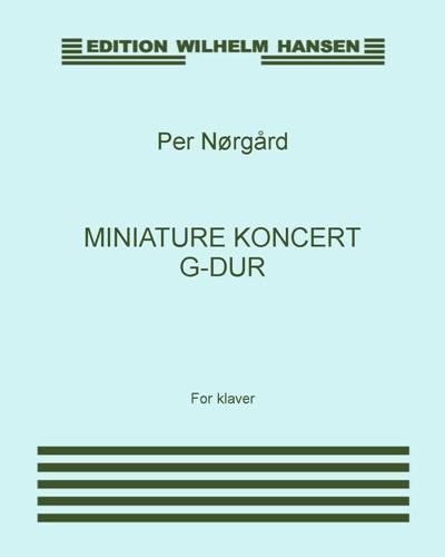 Miniature Koncert G-Dur