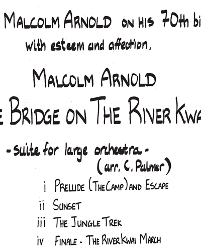Bridge on the River Kwai: Concert Suite, The