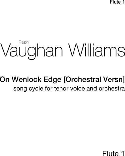 On Wenlock Edge [Orchestral Version]