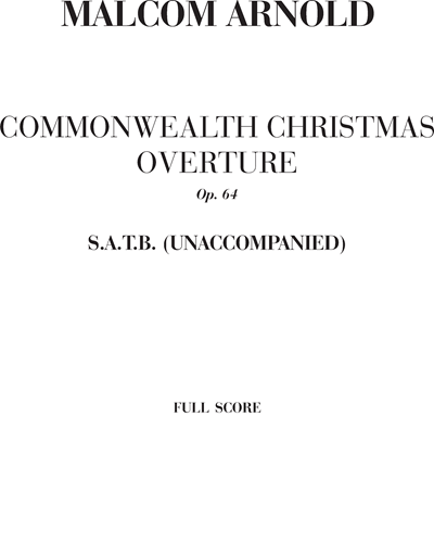 Commonwealth Christmas overture Op. 64