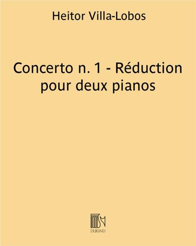 Concerto n. 1 - Réduction pour deux pianos