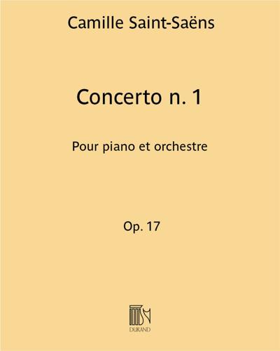Concerto n. 1 Op. 17 - Pour piano et orchestre