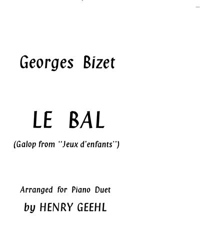 """Le Bal (Galop from """"Jeux d'enfants"""")"""