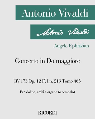 Concerto in Do maggiore RV 173 Op. 12 F. I n. 213 Tomo 465