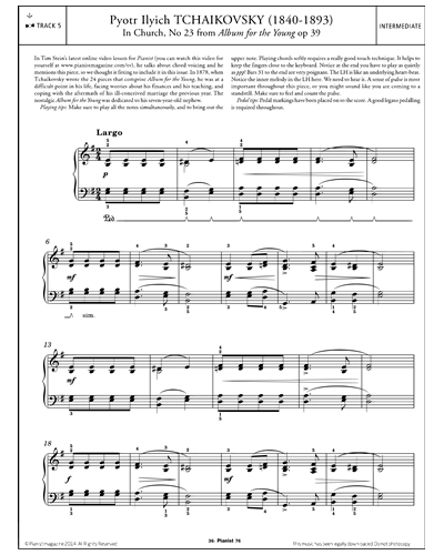 In Church, No.23 (from 'Album for the Young' Op.39)