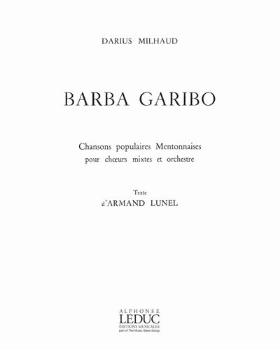 Barba Garibo Op. 298