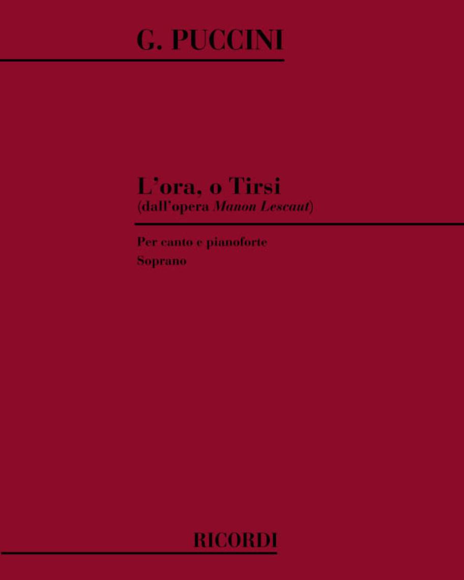 """L'ora, o Tirsi (dall'opera """"Manon Lescaut"""")"""