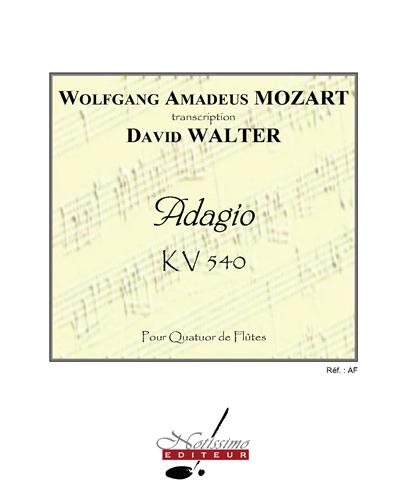 Adagio pour Quatuor de Flûtes, KV 540