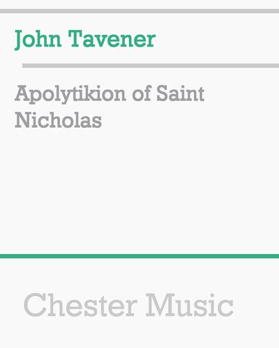 Apolytikion of Saint Nicholas