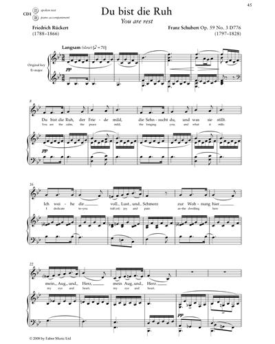 Du bist die Ruh (Op.59 No.3 D776)