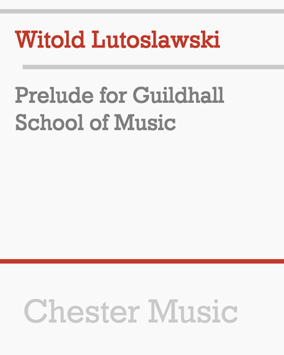 Prelude for Guildhall School of Music