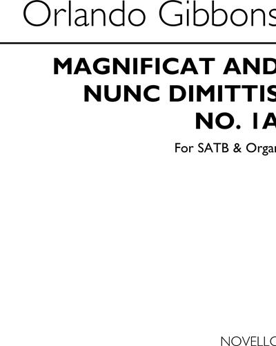 Magnificat and Nunc Dimittis No. 1a for SATB & Organ
