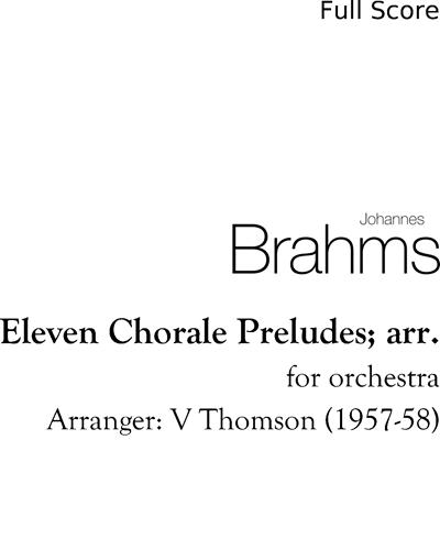 Eleven Chorale Preludes; arr.