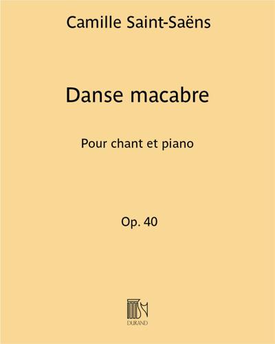 Danse macabre - Pour chant et piano