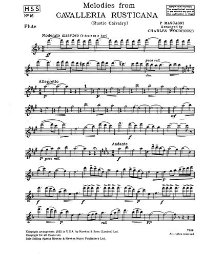 "Melodies from ""Cavalleria Rusticana"""