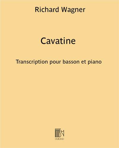 Cavatine (extrait de 'Le Vaisseau Fantôme')