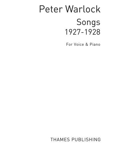 Songs for Voice & Piano (1927-1928)