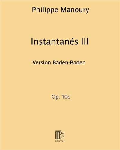 Instantanés III