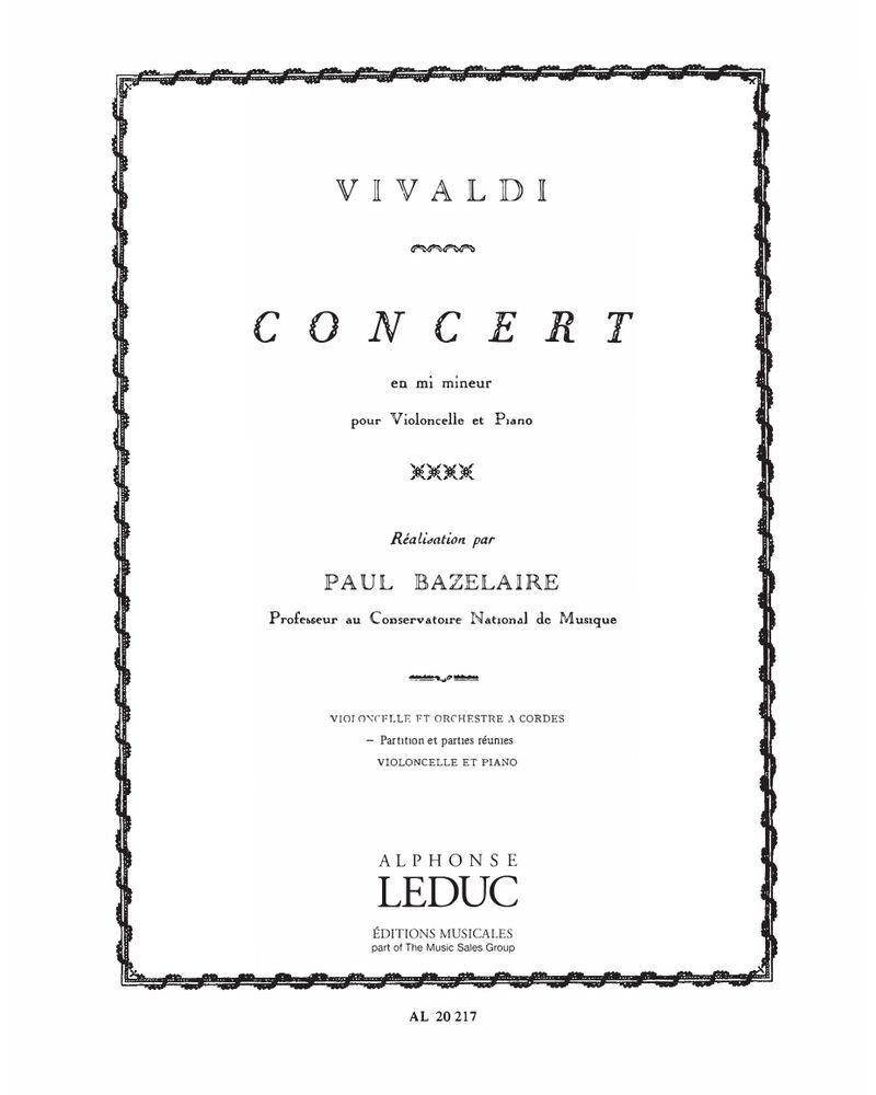 Concert en Mi mineur