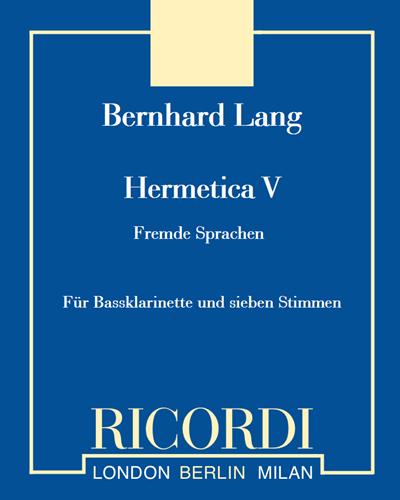 "Hermetica V ""Fremde Sprachen"""
