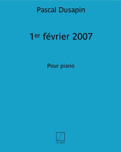 1ᵉʳ février 2007